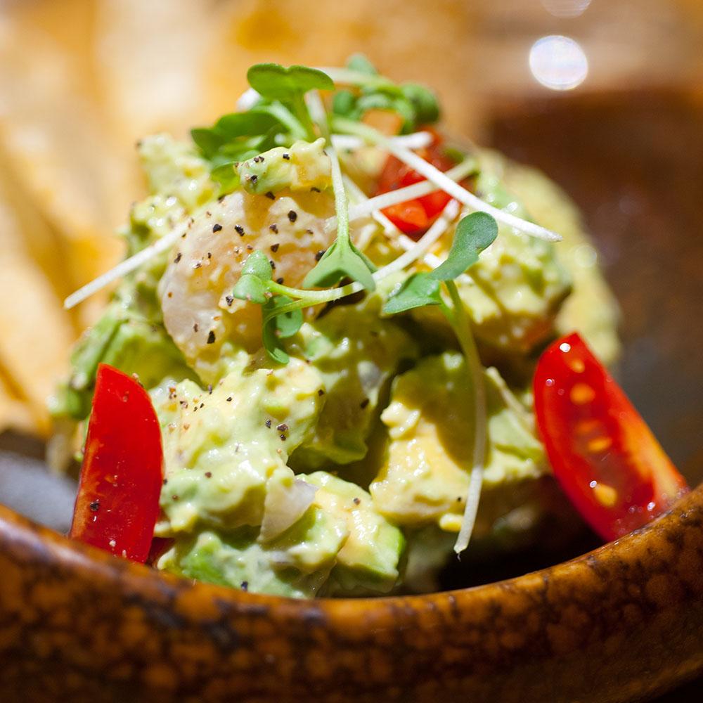 Shrimp Tostada - Mangos Mexican Cafe